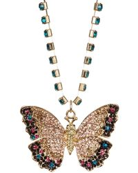 Cara - Butterfly Crystal Necklace - Lyst