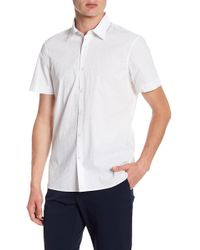 Perry Ellis - Geometric Short Sleeve Slim Fit Shirt - Lyst