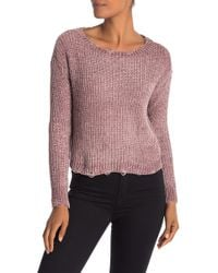 Love By Design - Distressed Chenille Pullover - Lyst