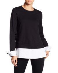 Bobeau - Poplin Detailed Sweatshirt - Lyst