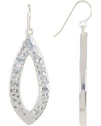 Simon Sebbag - Sterling Silver Textured Teardrop Drop Earrings - Lyst