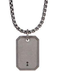 Steve Madden - Keyhole Pendant Necklace - Lyst
