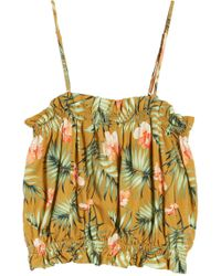 Sincerely Jules - Palm Crop Top - Lyst