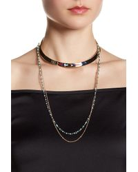 Rebecca Minkoff - Louisa Layered Collar Necklace - Lyst