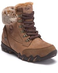Mephisto - Nabuka Tex Suede Waterproof Faux Fur Lined Boot - Lyst