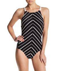 Robin Piccone - Harper Knit Trim One-piece Swimsuit - Lyst