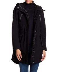 BCBGeneration - Faux Fur Hooded Softshell Anorak - Lyst