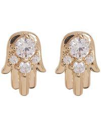 Nadri - Reminisce Cz Accented Hamsa Stud Earrings - Lyst