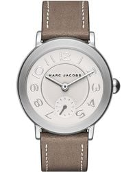 Marc Jacobs - Women's Riley Leather Strap Watch, 36mm - Lyst