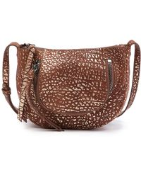 aec99577e7 Lyst - Kooba Monteverde Leather Mini Crossbody in Metallic