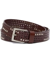 Linea Pelle - Perforated Studded Belt - Lyst