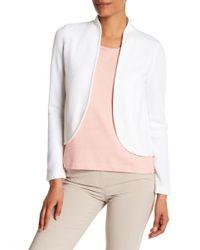 St. John - Textured Wool Blend Jacket - Lyst