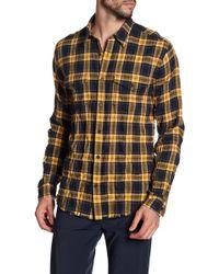 Vince - Frayed Edge Western Slim Fit Shirt - Lyst