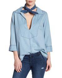 One Teaspoon - Bleu Le Pure Shirt - Lyst