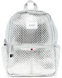 State Bags - Quilted Metallic Kane Backpack - Lyst