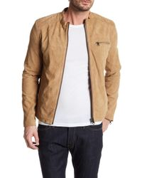 Lindbergh - Genuine Leather Biker Jacket - Lyst