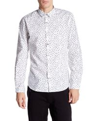 Lindbergh - Fragments Long Sleeve Slim Fit Shirt - Lyst