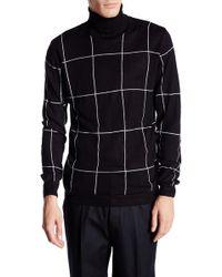 Lindbergh - Roll Neck Knit Jacquard Sweater - Lyst