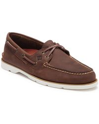 01ac4e57e7c Lyst - Sperry Top-Sider Leeward Perforated Boat Shoe in Brown for Men