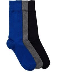 Cole Haan - Solid Flat Knit Crew Socks - Pack Of 3 - Lyst