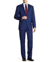 Hart Schaffner Marx - Notch Lapel Front Button Solid 2-piece Suit - Lyst