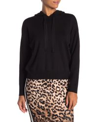 Nicole Miller - Hooded Logo Knit Sweater - Lyst