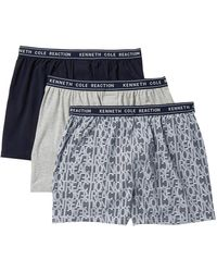 Kenneth Cole Reaction - Fashion Knit Boxers - Pack Of 3 - Lyst