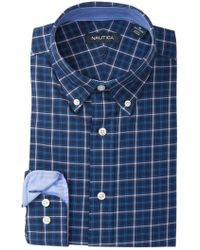 Nautica - Checked Classic Fit Dress Shirt - Lyst