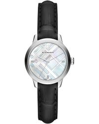 Burberry - Women's Classic Round Diamond Leather Strap - 0.022 Ctw - Lyst