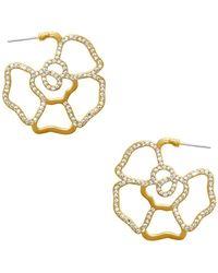 Karine Sultan - Embellished 95mm Hoop Earrings - Lyst