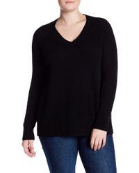 NAKEDCASHMERE - Whitney V-neck Cashmere Sweater (plus Size) - Lyst