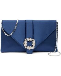 Jessica Mcclintock - Riley Satin Envelope Clutch - Lyst