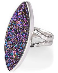 Lori Bonn - Pizzazz Sterling Silver Blue Drusy Cocktail Ring - Lyst