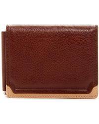 Trafalgar - Two-tone Triple Flip Leather Wallet & Clip - Lyst