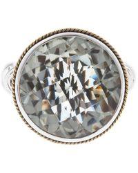 Effy Sterling Silver & 18k Gold Green Amethyst Ring - Size 7 - Metallic