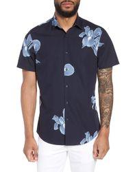 Calibrate - Trim Fit Floral Short Sleeve Sport Shirt - Lyst