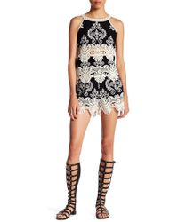 Romeo and Juliet Couture - Embroidered Crochet Short - Lyst