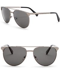 Z Zegna - 58mm Round Aviator Sunglasses - Lyst