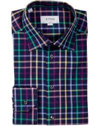 Eton of Sweden - Check Slim Fit Dress Shirt - Lyst