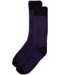 Punto - Plaid Socks - Lyst