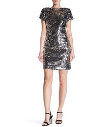 Vince Camuto - Short Sleeve Sequin Dress - Lyst