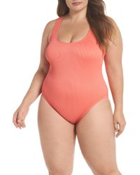The Bikini Lab - Rib-thym One-piece Swimsuit (plus Size) - Lyst