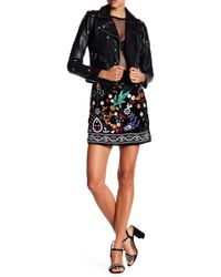 Romeo and Juliet Couture - Velvet Embroidered Skirt - Lyst