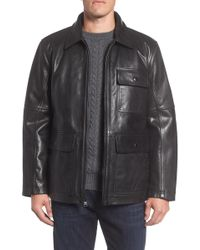 Andrew Marc - Bakers Calfskin Leather Jacket - Lyst