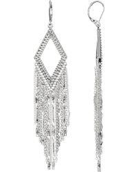 Jessica Simpson - Diamond-shaped Fringe Earrings - Lyst
