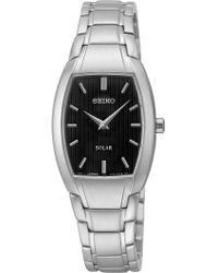 Seiko - Women's Solar Quartz Black Dial Watch - Lyst
