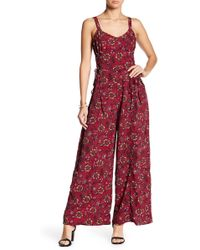 Band Of Gypsies - Retro Lace-up Side Jumpsuit - Lyst