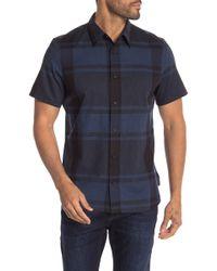 Calvin Klein - Checkered Short Sleeve Regular Fit Shirt - Lyst
