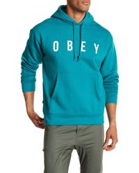 Obey - Anyway Logo Hooded Sweatshirt - Lyst