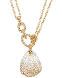Swarovski - Crystal Pave Pendant Layered Necklace - Lyst